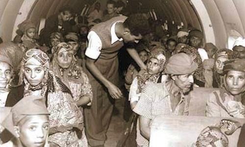 Żydzi jemeńscy ratowani przed pogromami w 1948 roku.