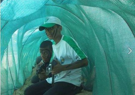 Dzieci ćwiczące w tunelach (Facebook.com/Gazacamps2014, 21 czerwca 2014)