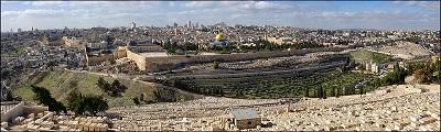 Wzgórze Świątynne w Jerozolimie widziane z Góry Oliwnej