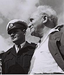 Admirał Limon z Ben Gurionem