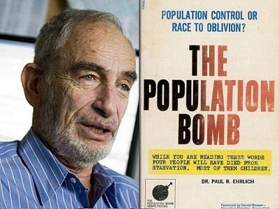 """W bestsellerze z 1968 rokuThe Population Bomb, Paul Ehrlich utrzymywał, że w ciagu kilku lat""""setki milionów ludzi umrze z głodu mimo wszystkich intensywych programów, jakie rozpoczną się teraz"""".To się nie zdarzyło."""
