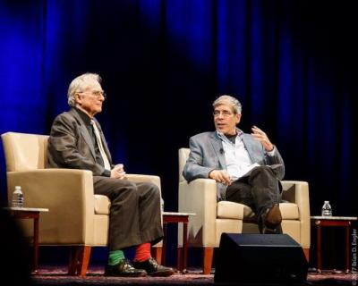 Richard Dawkins i Jerry Coyne podczas dyskusji w Waszyngtonie.