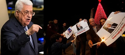 Palestinians burning pictures of U.S VP Pence and Jason Greenblatt. (Photos- A. Levy, W. Hashlamoun)