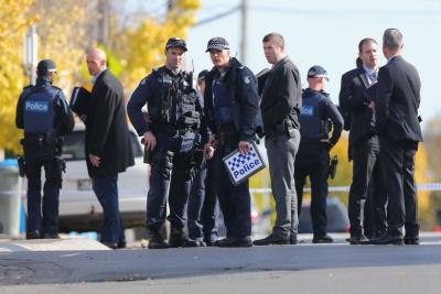 Policja na miejscu ataku terrorystycznego ataku w Melbourne. 6 czerwca 2017. (Zdjęcie: Michael Dodge/Getty Images)