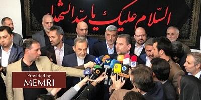 Delegacja Hamasu w Iranie z irańskimi przedstawicielami (zdjęcie: alresalah.ps, 22 października 2017)
