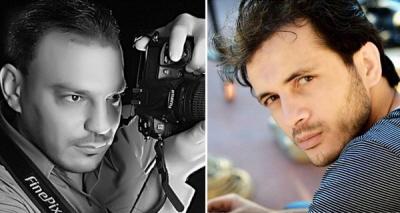Dziennikarz Shadi Shaheen (po lewej) został niedawno aresztowany w Gazie za krytykę Hamasu. Abdullah Nash'at Sayed (po prawej) został zatrzymany przez funkcjonariuszy sił bezpieczeństwa Autonomii Palestyńskiej, bo krytykował na Facebooku premiera Ramiego Hamdallaha.