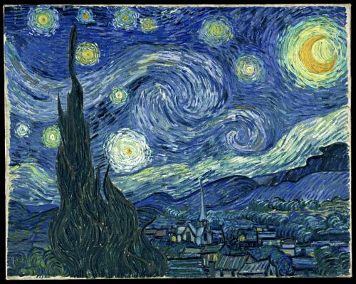 Gwiaździsta noc, Vincent van Gogh; domena publiczna