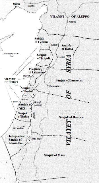 <span>Źródło: Wikipedia. Mapa Tallicfan20 w oparciu o Efraim Karsh</span>Palestine Betrayed<span></span>