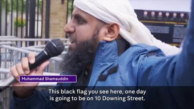 Muhammada Shamsuddina, 39-letniego mieszkającego w Londynie islamistę, pokazano w filmie dokumentalnym pod tytułem \