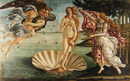 """Słynny obraz """"Narodziny Wenus"""", SandroBotticelli był zdaniem krytyków malowany pod wpływem lektury poematu Lukrecjusza. <br />"""