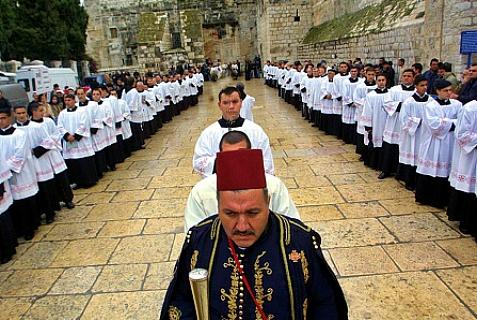 Bazylika Narodzenia Pańskiego, która była oblężona i zbezczeszczona przez arabskich terrorystów palestyńskich w 2002 r.<br /> Zdjęcie: Flash 90