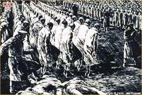 Tak wyglądały apele więźniów obozu w Auschwitz.