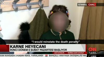 """Dumny moment w planach edukacyjnych prezydenta Erdogana """"wychowania pobożnego pokolenia"""": Wywiad CNN-Turk z małą dziewczynką, która oznajmia, że \"""