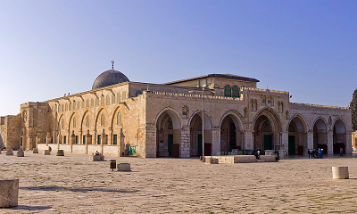 Meczet Al-Aksa na Wzgórzu Świątynnym w Jerozolimie. (Źródło: Andrew Shiva/Wikipedia)