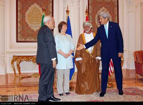 Kerry w Muscat:Cześć, muszę już iść[Zdjęcie: Iran's Islamic Republic News Agency]