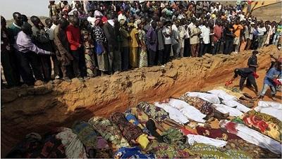 Chrześcijańska wieś po wizycie pasterzy Fulani.