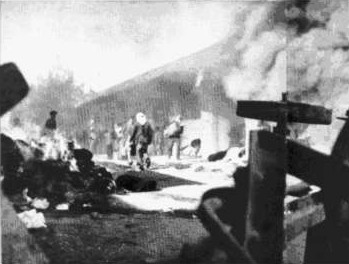 Atak arabski na żydowską dzielnicę handlową w Jerozolimie, grudzień 1947 r.