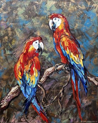 ...a malowane papugi/na plafonie jak długi/z dzioba w dziób zawołają: socjalizm! (z wiersza Norwida \
