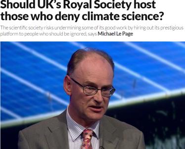 Czy brytyjskie Towarzystwo Królewskie powinno gościć tych, którzy przeczą nauce o klimacie? Na to pytanie warto sobie odpowiedzieć po zapoznaniu się z wykładem Matta Ridley'a