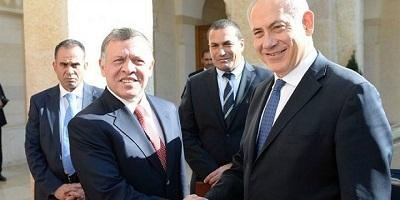 Król Jordanii Abdullah (po lewej) z izraelskim premierem Benjaminem Netanyahu w 2014 r.Zdjęcie: Kobi Gideon/GPO.