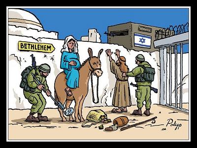 Matka Boska przed rozwiązaniem w wyobrażeniach współczesnych Palestyńczyków.