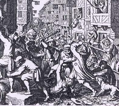 Pogrom we Frankfurcie w 1614 roku.