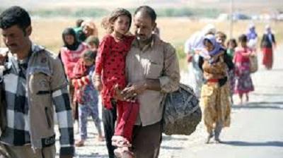 Jazydzi uciekający przed mordercami z ISIS.