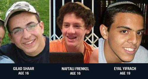 Trzech porwanych w zeszły czwartek nastolatków izraelskich to: Gilad Shaar, Naftali Frenkel i Eyal Yifrach.
