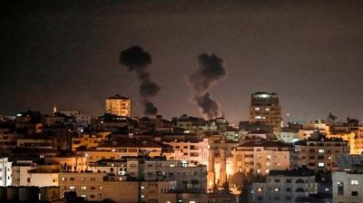 IDF uderza w Gazę w odpowiedzi na rakiety wystrzelone na Izrael (Zdjęcie: AFP)