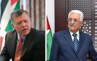 Jest nieprawdopodobne, by znani politycy jordańscy, którzy ostatnio mówili o federacji między Palestyńczykami a Jordanią, działali bez poparcia króla Abdullaha (po lewej). Tymczasem wydaje się, że większość Palestyńczyków straciła zaufanie do zdolności swoich przywódców, takich jak prezydent AP Mahmoud Abbas (po prawej) do osiągnięcia niepodległego państwa palestyńskiego. (Zdjęcia: Abdullah: World Bank / Abbas: US State Dept.)