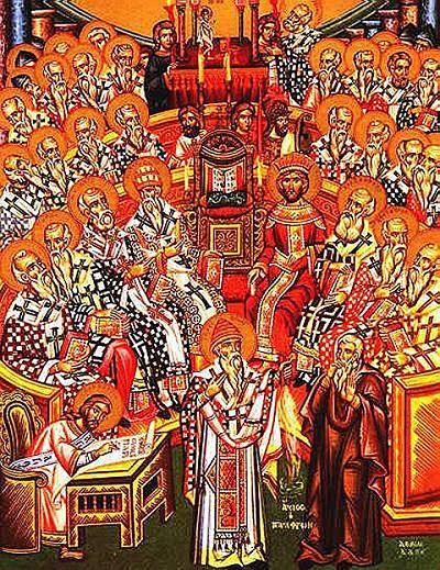 Ikona przedstawiająca sobór nicejski I