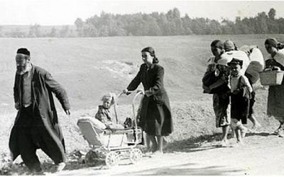 Żydowscy uchodźcy z terenów zdobytych przez Legion Arabski w 1948 r. Około 3 tysiące Żydów uciekło z wschodniej Jerozolimy.