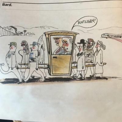 """Karykatura opublikowana w najbardziej szacownym dzienniku szwedzkim """"Dagens Nyheter"""""""
