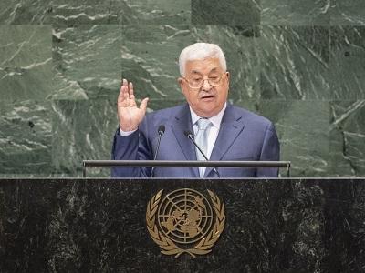 W dniach poprzedzających przemówienie prezydenta Autonomii Palestyńskiej, Mahmouda Abbasa, na Zgromadzeniu Ogólnym ONZ 27 września, jego siły bezpieczeństwa prowadziły wielką rozprawę z jego krytykami i przeciwnikami, aresztując ponad 100 Palestyńczyków. (UN Photo/Cia Pak)