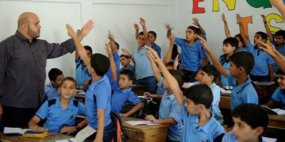 Palestyńscy uczniowie w szkole UNRWA. Zdjęcie: UN Photo / Shareef Sarhan.