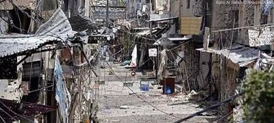"""Obóz """"uchodźców palestyńskich"""" w Libanie. Bez prawa do pracy, bez prawa do własności, bez prawa do nauki, bez prawa do opieki zdrowotnej.(Zdjęcie:Ein al-Hilweh)"""