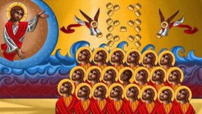 """Ikona egipsko-amerykańskiego artysty Tony'ego Rezka """"21 nowych męczenników Libii"""""""