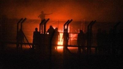 Palestyńczycy podpalają przejście graniczne Kerem-Szalom, piątek(zdjęcie: IDF Spokesperson's Unit)