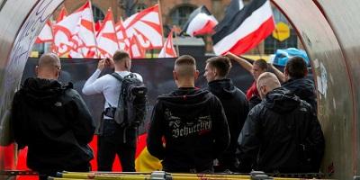 Demonstracja neonazistów w Dreźnie.