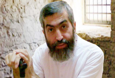 Ajatollah Seyed Hossein Kazemeini Boroujerdi, w celi więziennej w Iranie (zdjęcie niedatowane).
