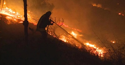 Nieustające pożary pól i lasów podpalanych przez wysyłanie tysięcy zapalających balonów.