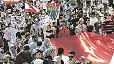 Protest BDS Berlinie(Zdjęcie: Getty Images)