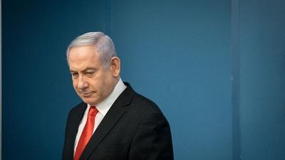 Premier Benjamin Netanjahu podczas konferencji prasowej w dniu 16 marca 2020. Zdjęcie: Yonatan Sindel/Flash90.