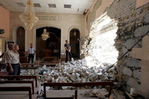 Kościół w Tel Keppe w Iraku.Chrześcijanom uciekającym od ISIS pomagają organizacje syjonistyczne – i rabin haredi. To jest syjonizm w działaniu.