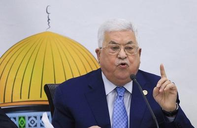 Palestyński prezydent Mahmoud Abbas wypowiada się na spotkaniu Rady Rewolucyjnej ruchu Fatahu w palestyńskim biurze prezydenckim w Ramallah 18 grudnia 2019 r.(zdjęcie: FLASH90)