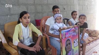 Dzieci Samah Abu Ghajjath apelują o jej zwolnienie w telewizji. (Zrzut z ekranu Wattan)