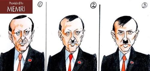 13 czerwca 2013: Sabir Nawaz pokazuje transformację tureckiego premiera Tayyipa Erdogana