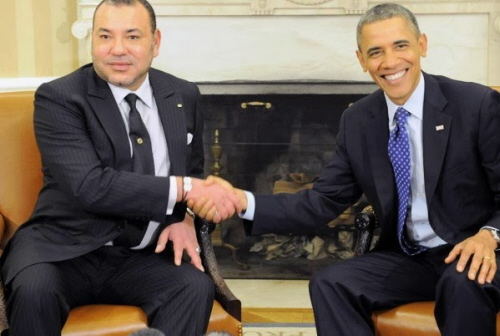 Król Maroka Muhammad VI i prezydent USA, Barack Obama