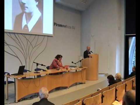Sympozjum poświęcone rosalii Celakównej u jezuitów w 2009 roku. (Zrzut z ekranu z filmu)