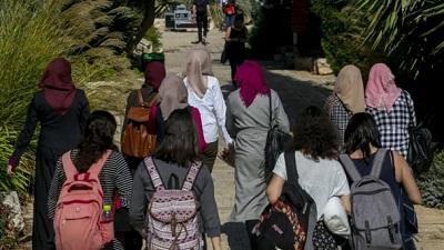 Grupa studentek na Uniwersytecie Ben Guriona